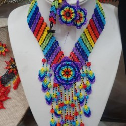 Chaquira Earrings and necklaces