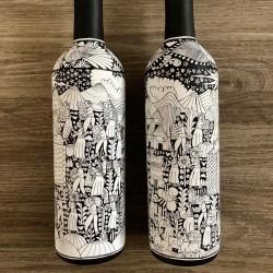Hand painted botttles