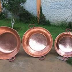 Copper saucepans