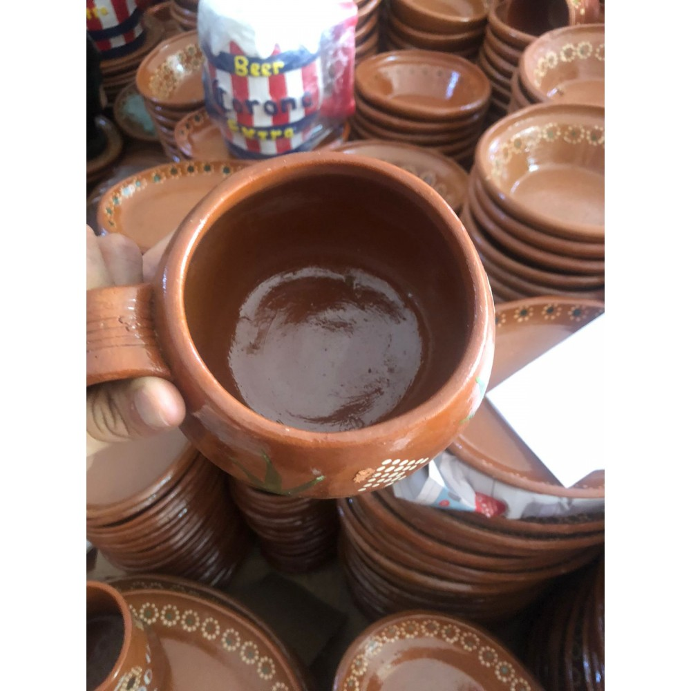Coco style clay  cup