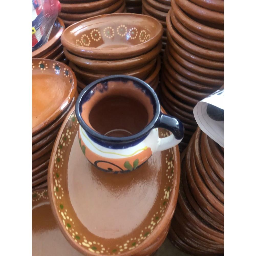Engobe clay cup