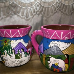 Hand Painted Clay Cups