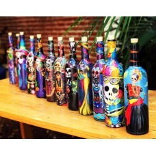 Craft Bottles made from paper maché
