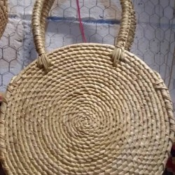 Thick  woven palm bags