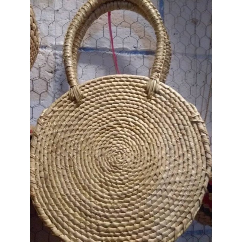 Hand woven palm bags