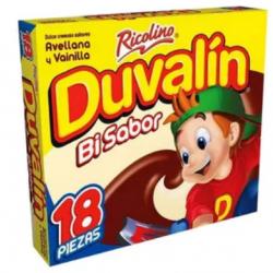 Duvalin Bi flavor hazelnut/vanilla box 24 pack 18 pieces each