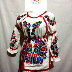Blouse 3/4 Red lines