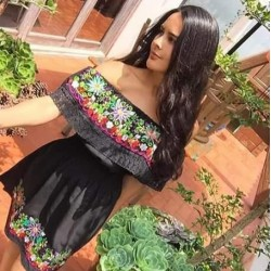 Black Typical mexican dress