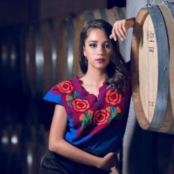 Embroidered zinacantan style blouse