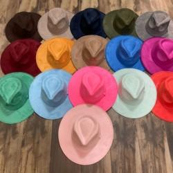 Drop suede hat