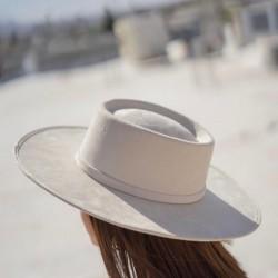 Canotier style hat