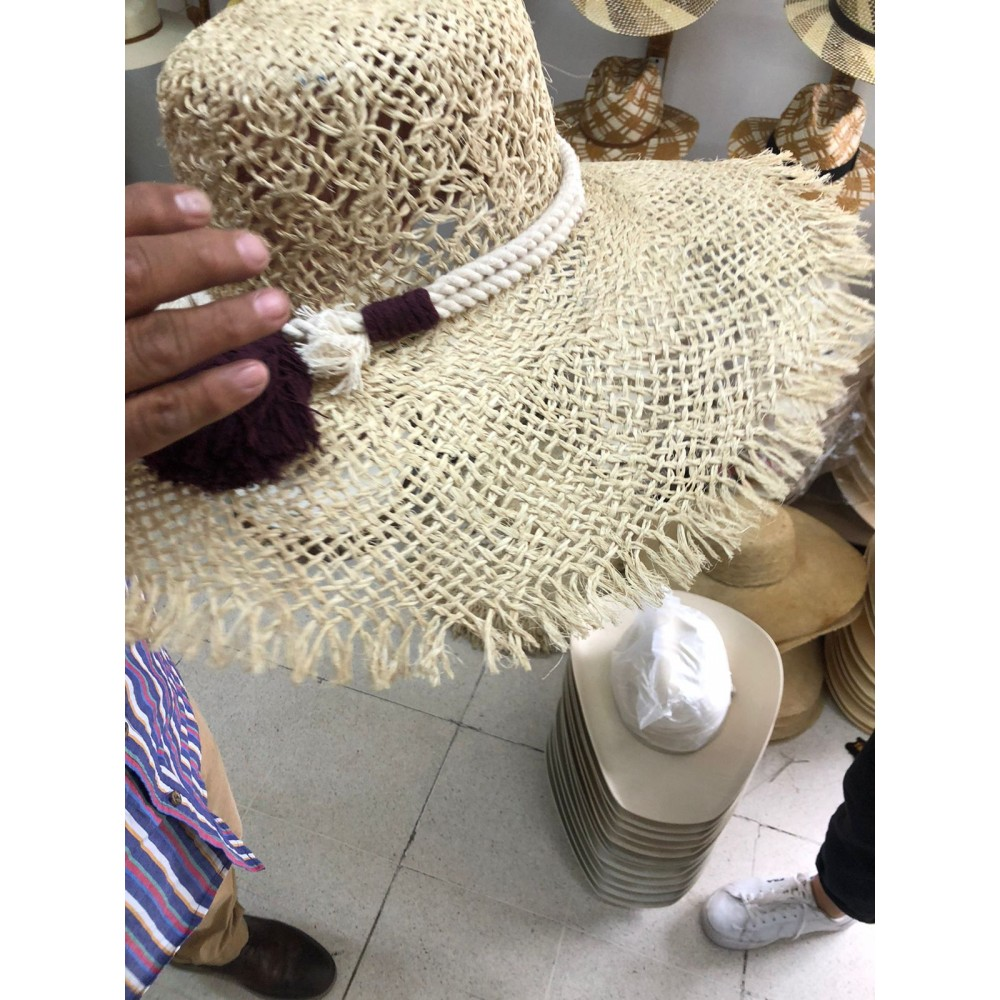 Straw summer beach hat