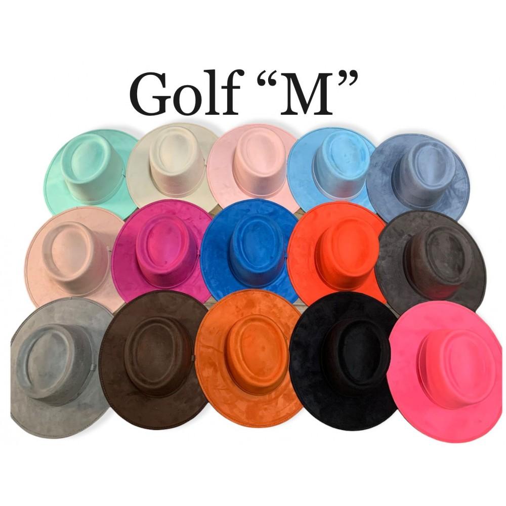 Golf suede hat