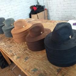Suede hats