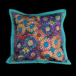 Cushion cover flowery light blue