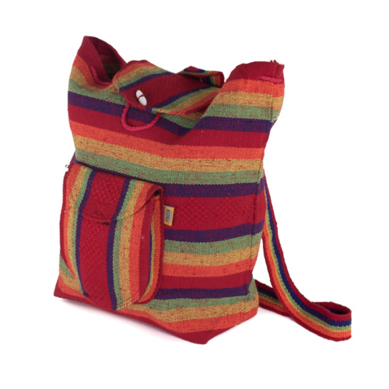 Mexican Bag Pack  Red/orange