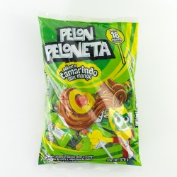 Pelon Peloneta Lolypop box 18 packs of 18 pieces each
